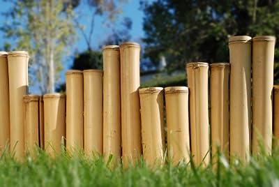 """Bamboo Border Edging Natural 1"""" x 1' x 8'"""
