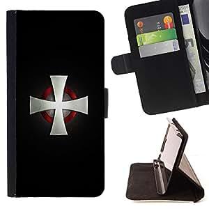 BullDog Case - FOR/HTC Desire 820 / - / Nordic Viking Cross Motorcycle Cross /- Monedero de cuero de la PU Llevar cubierta de la caja con el ID Credit Card Slots Flip funda de cuer