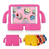 iPad Mini 1/2/3 Kids Case MUZE® 3D Cute Cartoon Light Weight Protection Shock Proof Drop-proof Durable EVA Foam Children Case Cover for Apple iPad Mini 1 2 3 Generation Protective Stand Case (Rose)