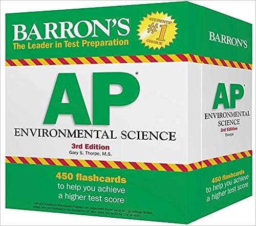 Barron S AP Environmental Science Flash Cards Barron S Test