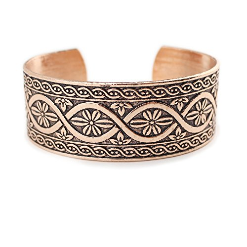 Wyo-Horse Jewelry Polished Shanti Cuff Fashion Bracelet from The Collection (Copper/Rose Gold)
