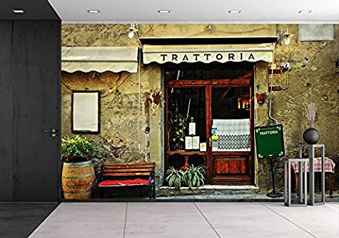 wall26 - Italian Restaurant - Removable Wall Mural | Self-adhesive Large Wallpaper - 100x144 inches (Tuscany Mural)