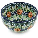 Polish Pottery Bowl 5-inch Spring Song UNIKAT