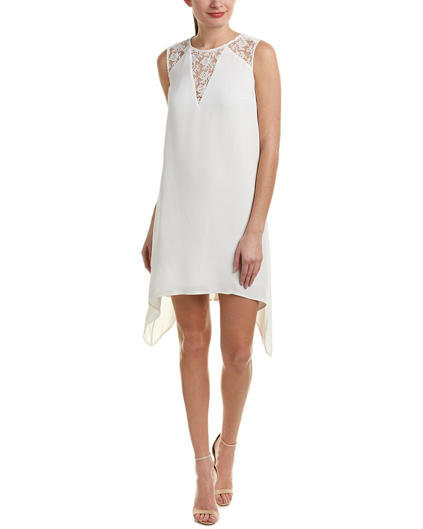 French Connection Women's Hennessy Drape Dress, Summer White, 4