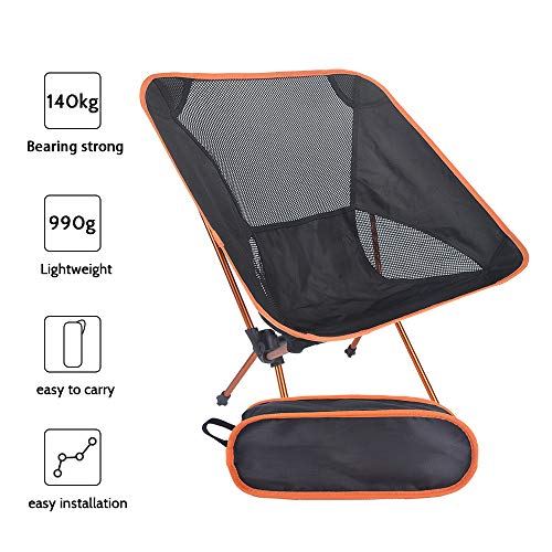 Furtxy Ultra-Light Folding Chairs for Fishing, BBQ, Camping, Beach Picnic with Carry Bag 1.1