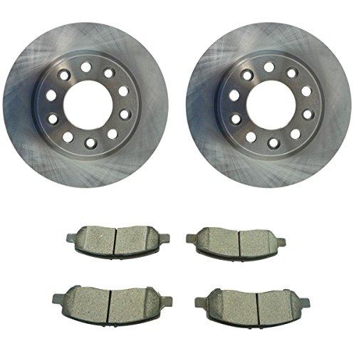 Rear Premium Posi Ceramic Disc Brake Pad & Rotor Kit Set for Dodge - Set Dart Dodge