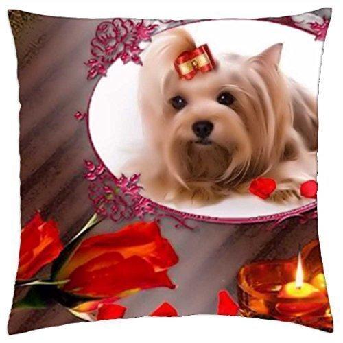 Springtime Throw - Dog in Springtime - Throw Pillow Cover Case (18