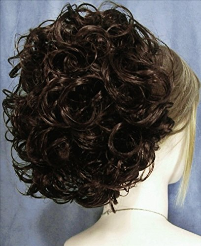 PHOEBE Clip On Hairpiece by Mona Lisa 4 Dark Brown