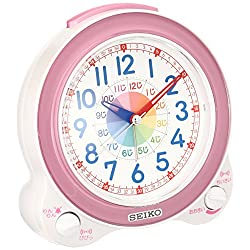 SEIKO CLOCK ( Seiko clock ) educational alarm clock ( light pink ) KR887P