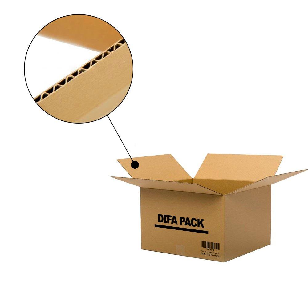 Pack de 12 Cajas de Cartón - Alta Calidad, Resistente - Cajas de Mudanza - Color Marrón - Fabricadas en España - Tamaño 440 x 310 x 260 mm - Mudanza - ...