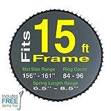 (Sportspower BouncePro 15ft Model | Sam's Club) 159'' Trampoline Mat for 15' Round Frames Having 96 Rings and 7.0' Springs