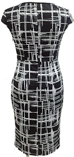 LUNAJANY-Womens-Summer-Casual-Striped-Print-Wear-to-Work-Sheath-Dress