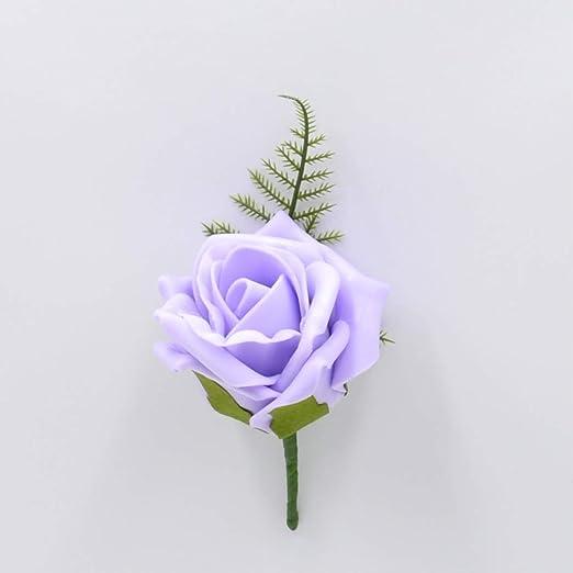 Flores de casamiento artificiales, hechas a mano, rosa para ...