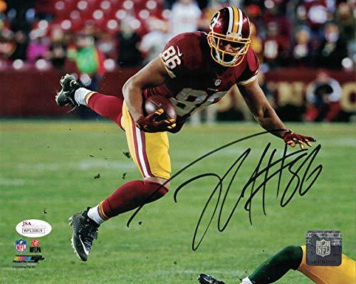 Jordan Reed Autographed/Signed Washington Redskins 8x10 Photo JSA