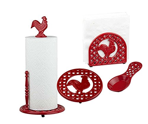 red rooster kitchen decor - 9