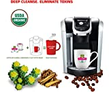 SOLLO Coffee Pods Compatible With 2.0 K-Cup Keurig Brewers, Detox Slimming And Cleaning COFFEE For Men and Woman, Strong Antioxidant, Organic by USDA, 24 Count Per Box, Weight Loss Functional.