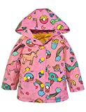 #4: YNIQ Girls' Lightweight Unicorn Print Raincoats Rain Jacket