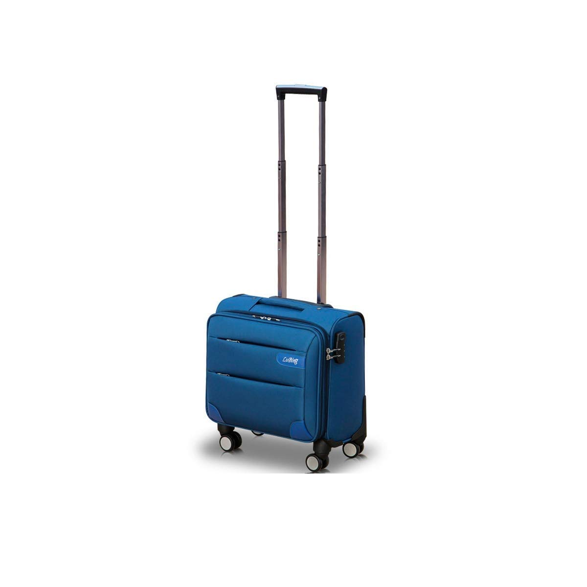 Xingganglengyin Soft Rotating Luggage, Carrying Luggage, Trolley case, Travel Organizer, Best Gift, 16 inches, Black (Color : Purple, Size : 14) (Color : Blue, Size : 20)