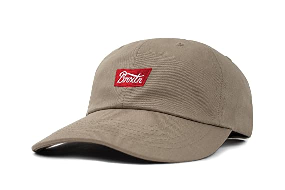 206e0697 Amazon.com: Brixton Men's Stith Low Profile Adjustable Hat, Khaki ...