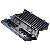 Zacro PS4 Cooling Fan Dual Charging Station for Playstation 4 DualShock 4 Controllers, with 2 USB HUB Charger Ports and 14 Disc Storge Manager by Zacro