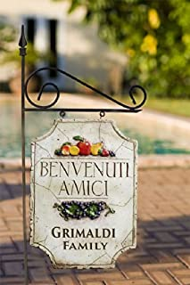 product image for Piazza Pisano Decorative Welcome Personalized Yard Sign
