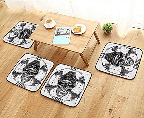 UHOO2018 Universal Chair Cushions Ghetto Skull t Shirt Graphic Personalized Durable W15.5 x L15.5/4PCS Set