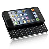 Naztech N5200 Ultra-Thin Bluetooth Wireless Slideout Keyboard Case for Apple iPhone SE/5S/5-Black