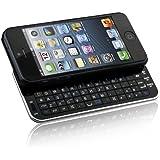Naztech N5200 Ultra-Thin Bluetooth Wireless Slideout Keyboard Case for Apple iPhone SE/5S/5-Black