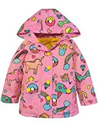 Girls' Lightweight Unicorn Print Raincoats