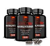 3 Bottles of BurnerTEK™ All Natural #1 Rated Fat Burner - 12 Fat Burning Ingredients, 270 Pills, 90 Day Supply - Lose Weight, More Energy & More Stamina (3)