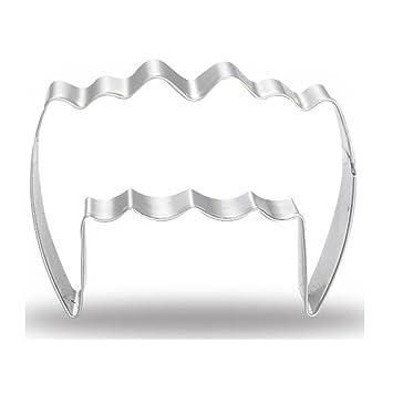 WDYJMALL - Molde para galletas de acero inoxidable con dientes de vampiro