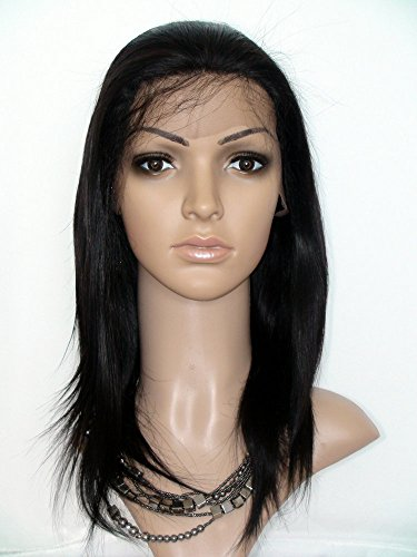 """Sina Beauty 10"""" Straight Glueless Full Lace Human Hair Wigs #1B Malaysian Virgin Hair Lace Wig For Black Women With Baby Hair Wig"""