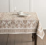 Maison d' Hermine Allure 100% Cotton Tablecloth 60 Inch by 108 Inch.