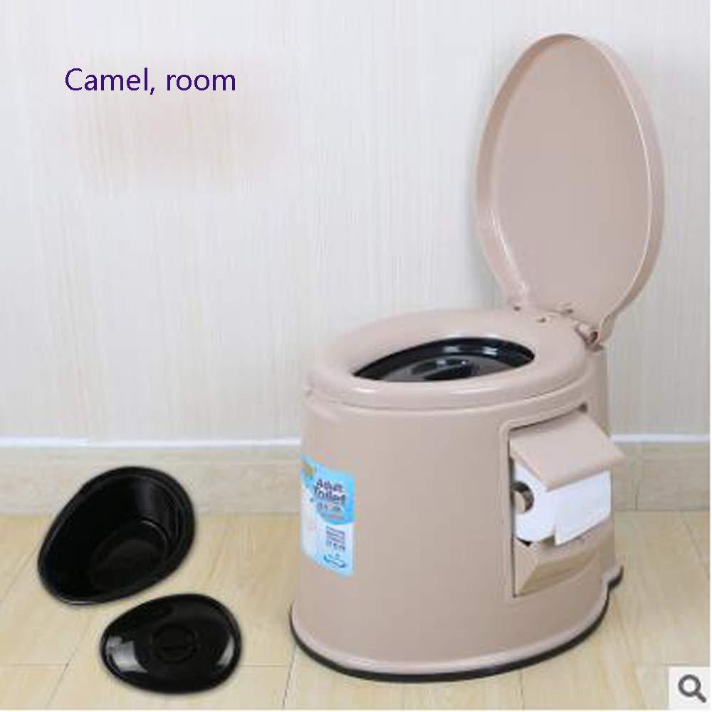 Tragbarer Toilettenpatiententoleranter Toilettensitzplastik der Älteren Frauen der Älteren Frauen Tragbarer Erwachsener,Camela