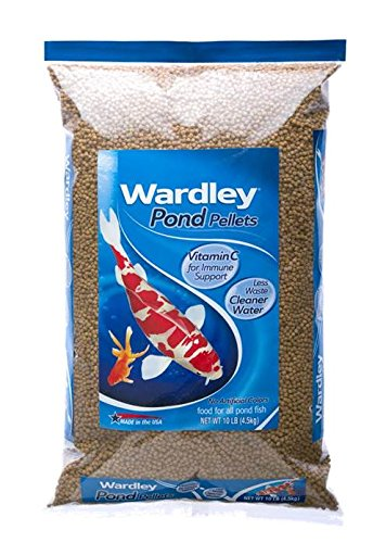 Hartz Wardley Pond Floating Fish Food Pellets - 10 Pound (Large Pond Pellet Food)