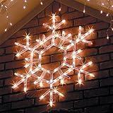 36'' LED Folding Twinkle Snowflake Christmas Decoration, Cool White Lights