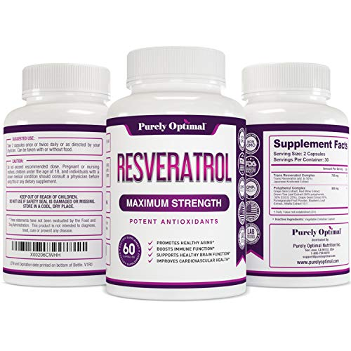 51An s6dv L - Premium Resveratrol Supplement 1500mg - Max Strength Potent Antioxidant, Trans Resveratrol Capsules for Heart Health, Anti-Aging, Immune Health - with Grape Seed & Green Tea Extract - 30 Days Supply