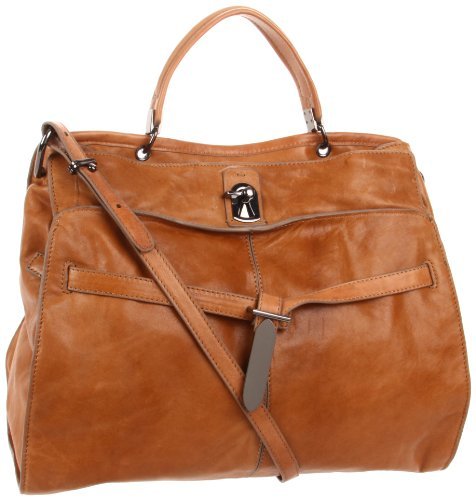 Kooba Liam PF12004-3 Satchel,Camel,One Size, Bags Central