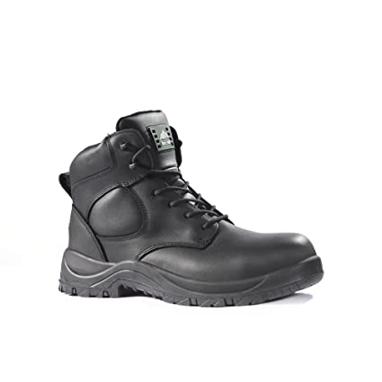 8e6889a3d53 Rock Fall RF222 Jet Uniform Safety Boot with Side Zip, Black, Size 3