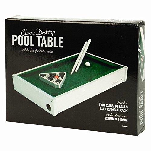Invero® Table Top Wooden Mini Desktop-Pool Billard Tisch Spiel Fun Set Kids Tragbare