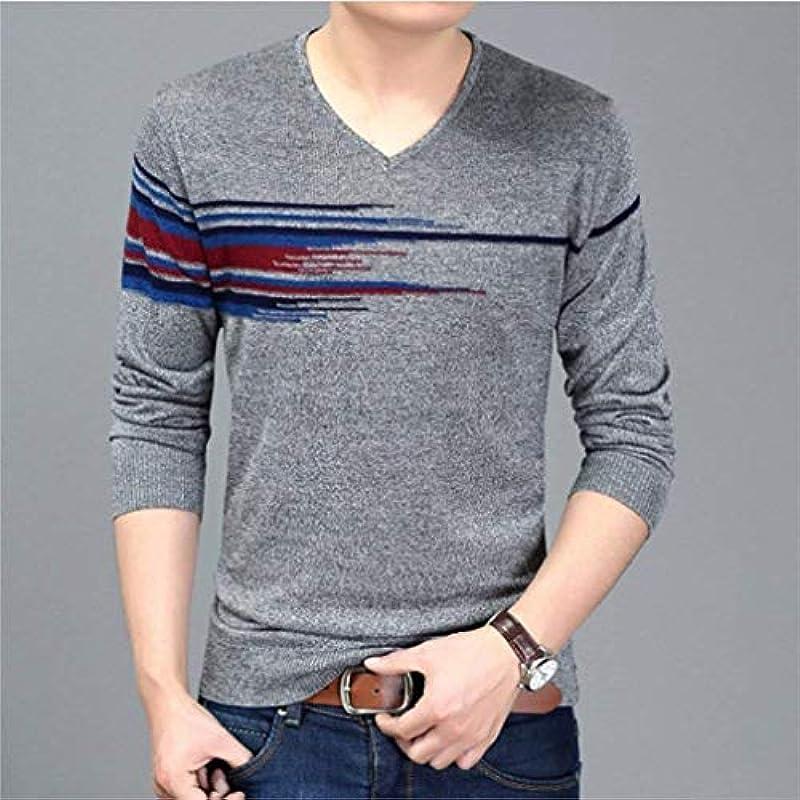 HaiDean męski casual długi rękaw sweter Knit sweter V bluza z daszkiem Modernas swobodna wiosna jesień elegancki długi rękaw sweter z okrągłym dekoltem sweter dziergany: Odzież