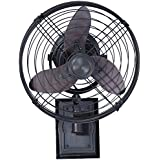 Ellington FAR14ABZ3W, Faraday Three Blade Aged Bronze Outdoor Wall Fan, 14 Span, Damp Rated