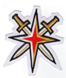 The Hockey Company Golden Knights Secondary Team Patch Inaugural Season Swords with White Background LAS VEGASPRE-Order Item - Shipping Begins August 28TH