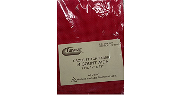 """Raymar 14 Count Aida Cross Stitch fabric Different Colors available 12/""""x12/"""" NEW"""