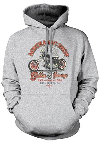 Amdesco Men's Bobber Garage Mechanic Shop Motorcycles Hooded