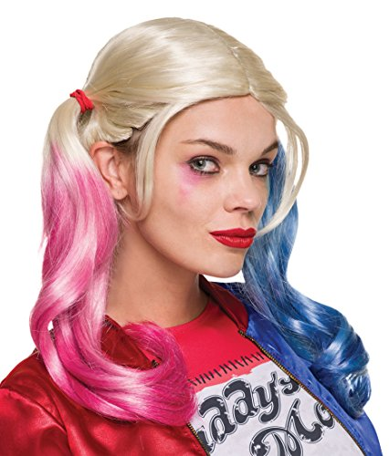 [Rubie's Women's Suicide Squad Harley Quinn Wig, Multi, One Size] (New Harley Quinn Costumes)