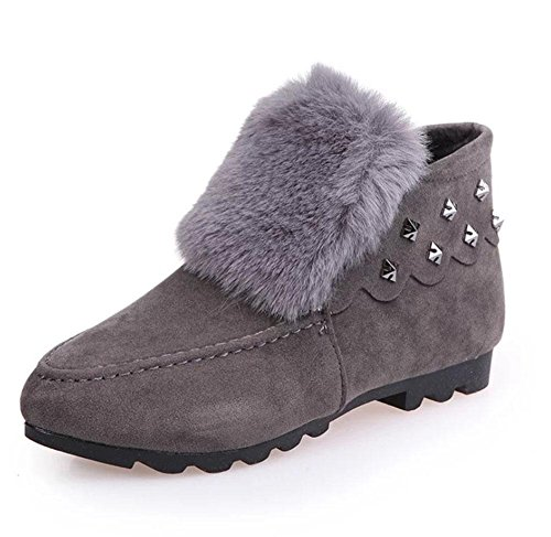 moda de Zapatos algodón antideslizantes nieve MEILI cálidas estudiantes botas además mujer terciopelo de planas de de zapatos botas botas engrosadas de gray mujer 01dn1xqP