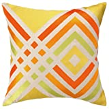Trina Turk Residential New Linen Embroidered Throw Pillow, Los Olivos, Yellow