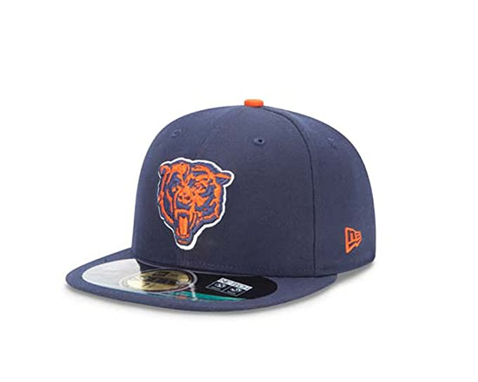 Amazon.com  New Era Chicago Bears On Field Cap Navy 59fifty Basic Fitted  Basecap Kappe Men  Clothing 40a940960