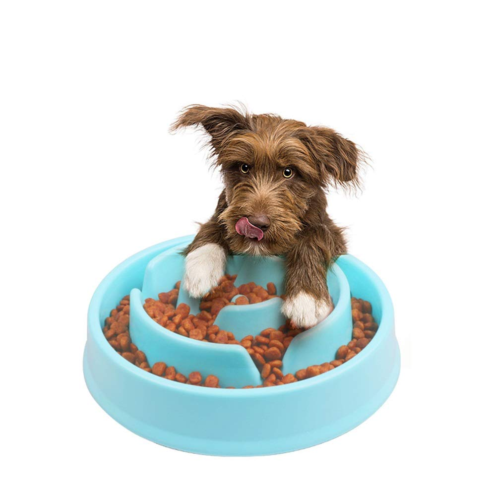 Pet Feeder Slow Feed Cat Bowl   Small Breed Dog Feed Bowl   Slow Feed Bowl for Pets Eco-Friendly Durable Non-Toxic Preventing Choking Healthy Design Bowl for Dog Pet Pet Bowl for Dogs Cats and Pets